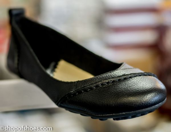 Gloriously soft leather smart black womens ballet shoe